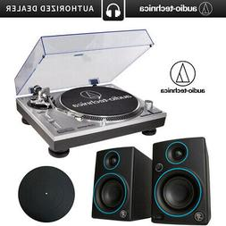 Audio-Technica AT-LP120-USB Turntable + 2 Blue Mackie CR3 Sp
