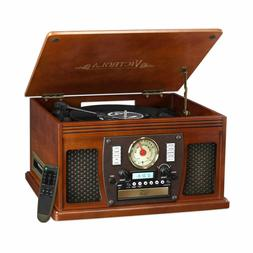 Victrola Nostalgic Aviator Wood 8 in 1 Bluetooth 3 Speed Ent