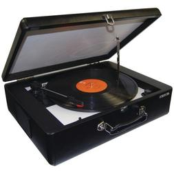 Nostalgic Style Briefcase Portable Stereo Turntable with Bui