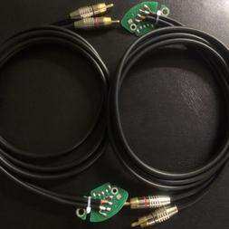 PAIR of Technics 1200 turntable RCA cable & pc board W/ Int
