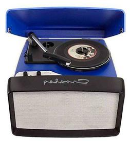 Crosley Portable COLLEGIATE 3-Speed Turntable CR6010A-BLUE W