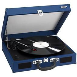 Jensen Portable 3-Speed Stereo Turntable with Built-In Speak