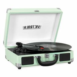 portable suitcase record player turntable with bluetooth