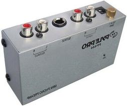 Pyle PP444 Ultra Compact Phono Turntable PreAmplifier DC 12V