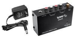 Pyle PP555 Compact Phono Turntable Preamp Converts Phono to