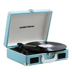 record player classic portable suitcase 3 speed