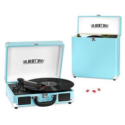 Victrola Record Player Bundle Includes a 3-Speed Turntable,
