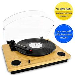 Record Player Max Pad, Vinyl Turntable with Stereo Speakers,