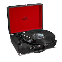 Vinyl Stereo Black Record Player 3 Speed Portable Turntable