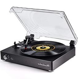 Record Player Turntable Portable Bluetooth LP Belt-Drive 3-S