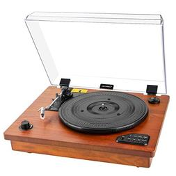 Record Player- Geekoala Turntable, Vinyl Player Bluetooth, V