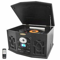 Retro Vintage Turntable System with Built-in Speakers - Play