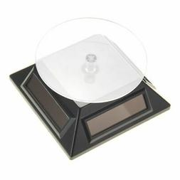 Solar Powered Turntable Display Stand Black