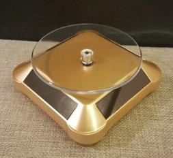 Solar Showcase 360 Turntable Rotating Display Stand for hotw