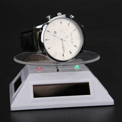 Solar Showcase 360° Turntable Rotating Jewelry Watch Ring D