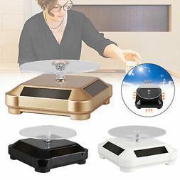 Solar Showcase 360° Turntable Rotating Jewelry Watch Ring P