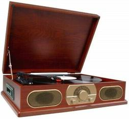 Spectra Studebaker Wooden Turntable with AM/FM Radio & Casse