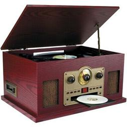 SYLVANIA SRCD838 Nostalgia 5-in-1 Turntable/CD/Radio/Cassett