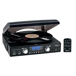 Jensen Professional 3-Speed Stereo Turntable with MP3 Encodi