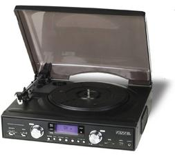 Jensen 3-Speed Stereo Turntable with MP3 Encoding and AM/FM