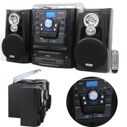 Stereo Turntable System Bluetooth Music 3 Speed 3-CD Changer