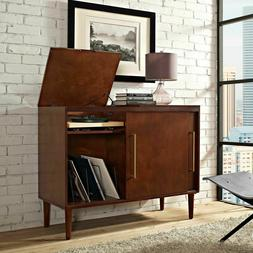 Media Console Cabinet Sideboard Classic Records Turntable St