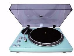 Techplay TCP4530 Turquoise Analog Turntable Record Player Bu