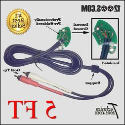 Technics 1200 1210 Gold Tip RCA Phono Cables with Internal G