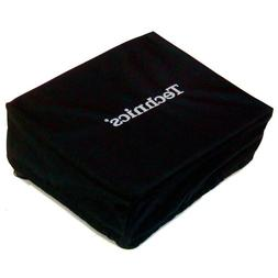 Technics Turntable Deck Covers: Black w/ Silver Embroidery f