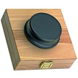 Turntable Record Puck Clamp Heavy Weight Metal Felt Black w/
