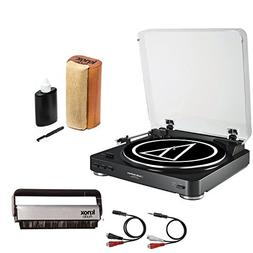 Audio-Technica AT-LP60USB Turntable w/Knox Vinyl Brush Clean