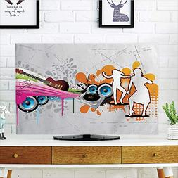 iPrint LCD TV dust Cover Strong Durability,Grunge,Music Peop