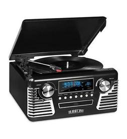 Innovative Technology V50-200-BLK Bluetooth Stereo Turntable