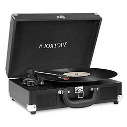 Victrola Vintage 3-Speed Bluetooth Suitcase Turntable Speake