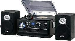 NEW Jensen AM/FM Radio 3-Speed Turntable/CD/Cassette/Record