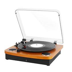 Vintage Vinyl Record Turntable Player with Bluetooth,LP 3-Sp