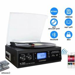 Vinyl/LP Turntable Record Player with Bluetooth AM&FM Radio