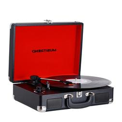 vinyl record player classic portable suitcase3 speed