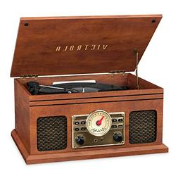 Victrola VTA-250B-MAH 4-in-1 Nostalgic Bluetooth Record Play