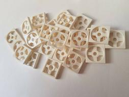 Lego White Turntable 2x2 Plate Base, Part 3680, Element 3680