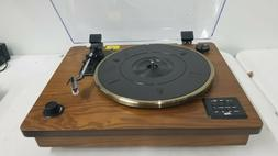 Rcm Wireless 3-Speed Turntable Stereo Speakers Natural Wood