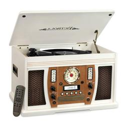Victrola Wood 7-in-1 Nostalgic Bluetooth Record Player with
