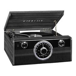 Victrola Wood Bluetooth Mid Centry Record Player with 3-spee