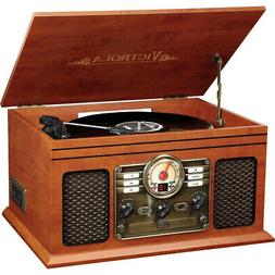 wooden 6 in 1 nostalgic bluetooth record
