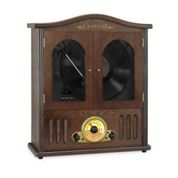 wooden wall mount nostalgic record player vertical
