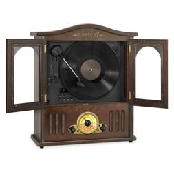Wooden Wall-Mount Nostalgic Record Player Vertical Turntable